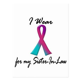 Thyroid Cancer I WEAR THYROID RIBBON Sister-In-Law Postcard
