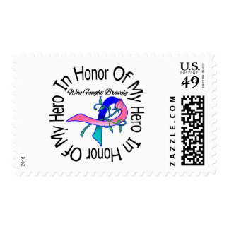 Thyroid Cancer In Honor Of My Hero Stamp