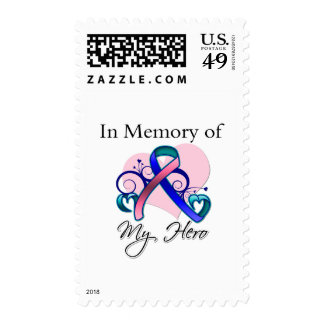 Thyroid Cancer In Memory of My Hero Stamp