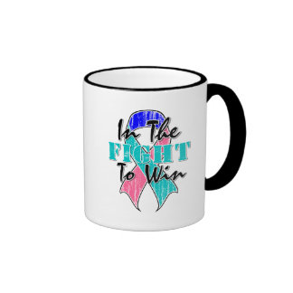 Thyroid Cancer In The Fight To Win Ringer Coffee Mug