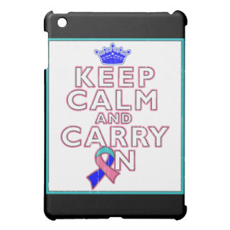 Thyroid Cancer Keep Calm and Carry On Cover For The iPad Mini