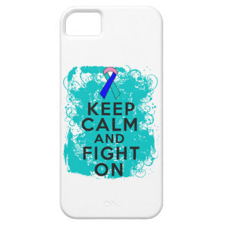 Thyroid Cancer Keep Calm and Fight On iPhone 5 Case