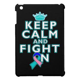 Thyroid Cancer Keep Calm Fight On Cover For The iPad Mini
