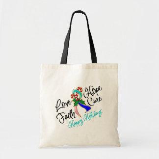 Thyroid Cancer Love Hope Holidays Bags