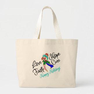 Thyroid Cancer Love Hope Holidays Canvas Bag
