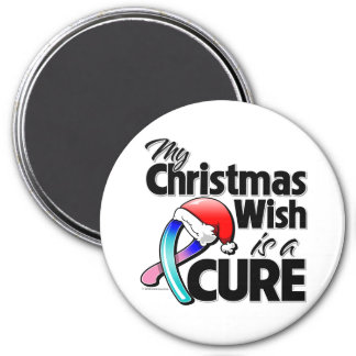 Thyroid Cancer My Christmas Wish is a Cure 3 Inch Round Magnet