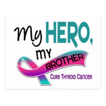 Thyroid Cancer MY HERO MY BROTHER 42 Postcard