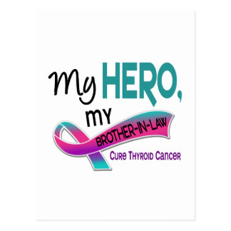 Thyroid Cancer MY HERO MY BROTHER-IN-LAW 42 Postcard