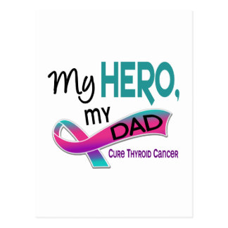 Thyroid Cancer MY HERO MY DAD 42 Postcard