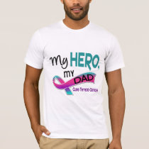 Thyroid Cancer MY HERO MY DAD 42 T-Shirt