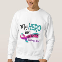 Thyroid Cancer MY HERO MY DAUGHTER 42 Sweatshirt