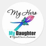 Thyroid Cancer My Hero My Daughter Sticker