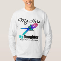 Thyroid Cancer My Hero My Daughter T-Shirt