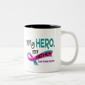 Thyroid Cancer MY HERO MY FATHER 42 Two-Tone Coffee Mug