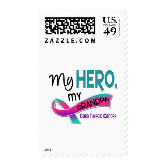Thyroid Cancer MY HERO MY GRANDPA 42 Postage Stamp