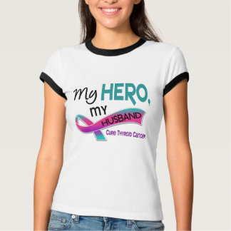 Thyroid Cancer MY HERO MY HUSBAND 42 T-Shirt