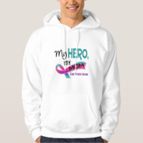 Thyroid Cancer MY HERO MY MOM 42 Hoodie