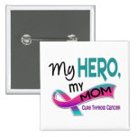 Thyroid Cancer MY HERO MY MOM 42 Pinback Buttons