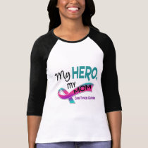 Thyroid Cancer MY HERO MY MOM 42 T-Shirt