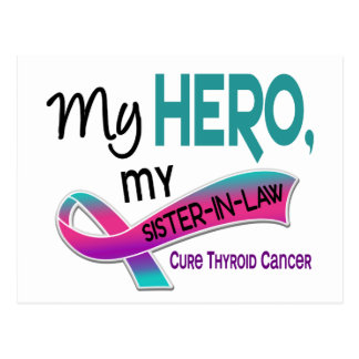 Thyroid Cancer MY HERO MY SISTER-IN-LAW 42 Postcard