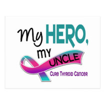 Thyroid Cancer MY HERO MY UNCLE 42 Postcard