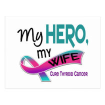 Thyroid Cancer MY HERO MY WIFE 42 Postcard
