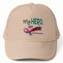 Thyroid Cancer MY HERO MY WIFE 42 Trucker Hat