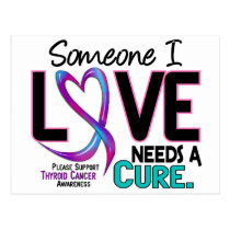Thyroid Cancer NEEDS A CURE 2 Postcard