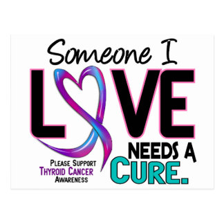 Thyroid Cancer NEEDS A CURE 2 Postcard