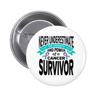 Thyroid Cancer Never Underestimate Strength 2 Inch Round Button