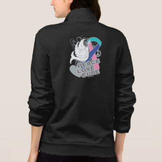 Thyroid Cancer Peace Love Cure Printed Jacket