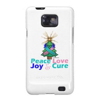 Thyroid Cancer Peace Love Joy Cure Samsung Galaxy SII Cases