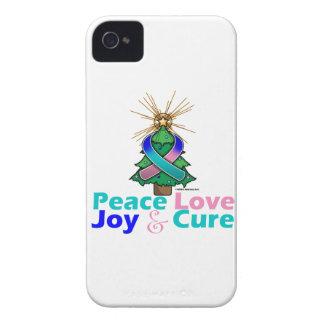Thyroid Cancer Peace Love Joy Cure iPhone 4 Covers