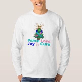Thyroid Cancer Peace Love Joy Cure T Shirt
