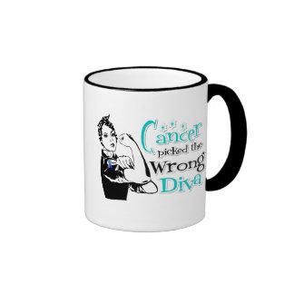 Thyroid Cancer Picked The Wrong Diva Ringer Mug