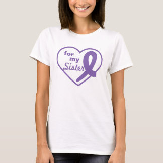 Thyroid Cancer Purple Heart and Ribbon Customize T-Shirt