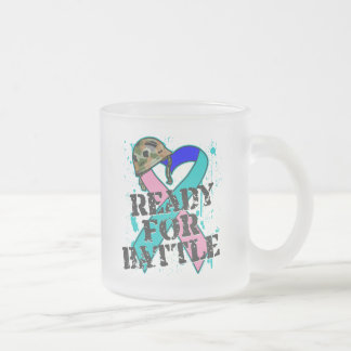 Thyroid Cancer Ready For Battle Frosted Glass Coffee Mug