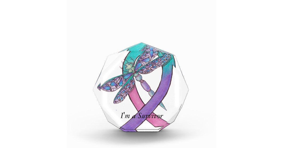 Thyroid Cancer Ribbon Acrylic Award Zazzle Com