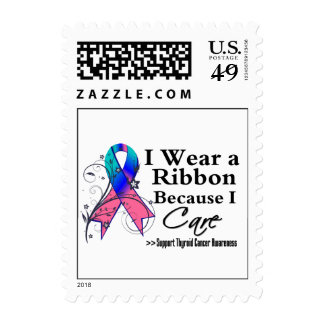 Thyroid Cancer Ribbon Because I Care Stamps