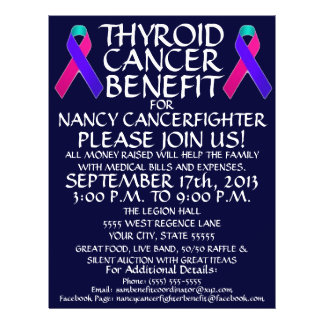 Thyroid Cancer Ribbon Benefit Flyer