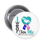 THYROID CANCER Ribbon For Me Button