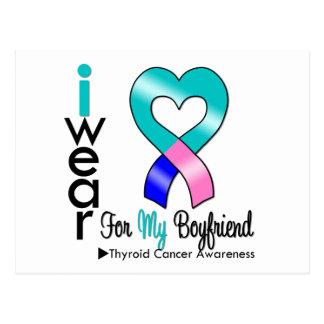 THYROID CANCER Ribbon For My Boyfriend Postcard