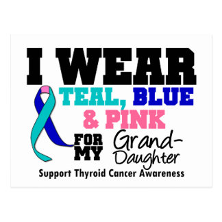 Thyroid Cancer Ribbon For My Granddaughter Postcard