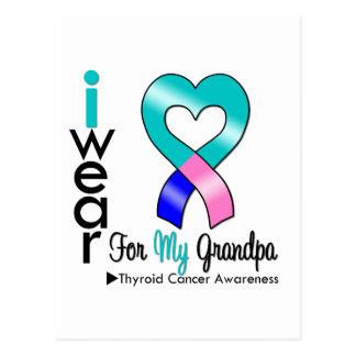 Thyroid Cancer Ribbon For My Grandpa Postcard