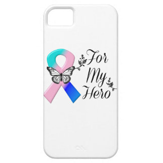 Thyroid Cancer Ribbon For My Hero iPhone SE/5/5s Case