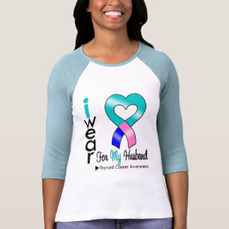 THYROID CANCER Ribbon For My Husband T Shirt