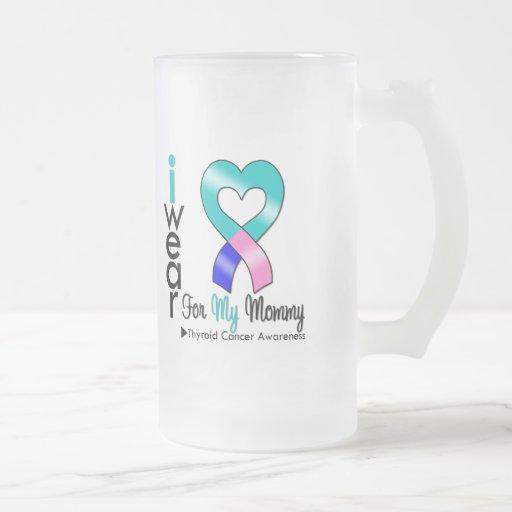 Thyroid Cancer Ribbon For My Mommy Coffee Mug
