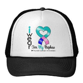 THYROID CANCER Ribbon For My Nephew Trucker Hat