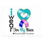 THYROID CANCER Ribbon For My Niece Postcard