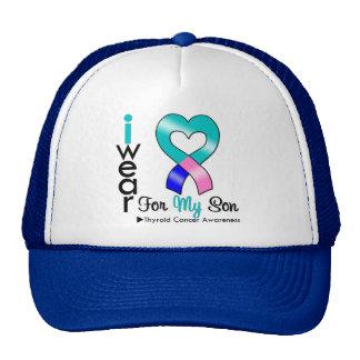 Thyroid Cancer Ribbon For My Son Trucker Hat